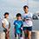 カニ採りで遊んでいた、なごみちゃん(11歳)、莉王くん(7歳)、心優ちゃん(11歳)。タモリさんがいることを知って大興奮!