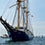 タモリカップの旗艦である大型帆船「みらいへ」が見えてきました! この船、世界一周航海も成し遂げたすごい船なんです。