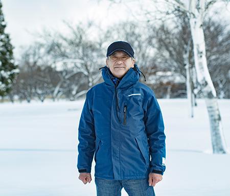 雪国地吹雪体験はじまりの場所へ。<BR> 「なんもなんも」とその人は笑った。