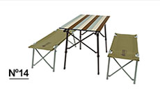 LOGOS Life オートレッグベンチテーブルセット4(ヴィンテージ)