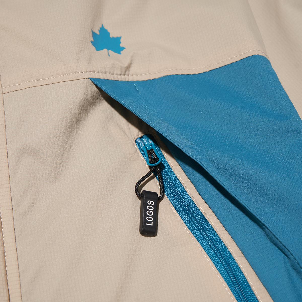 ジッパー付きの大きなポケット