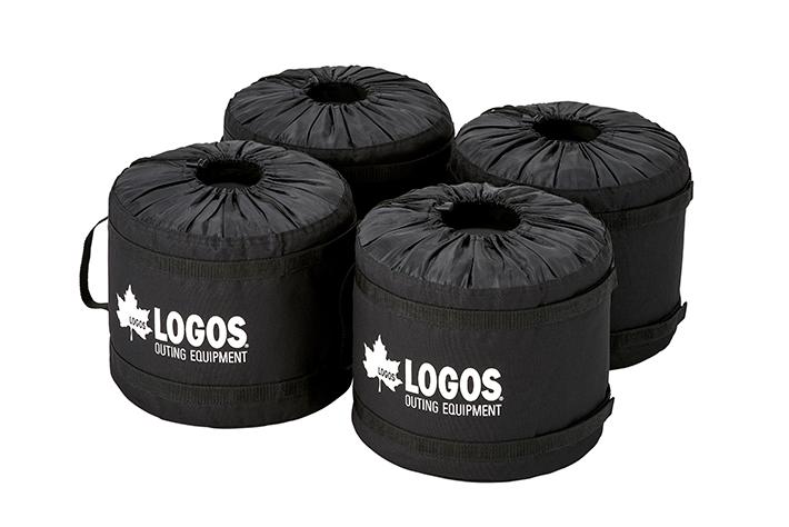 ウォーターコンテナや砂などを入れて使う、テント・タープのウェイト用バッグ。