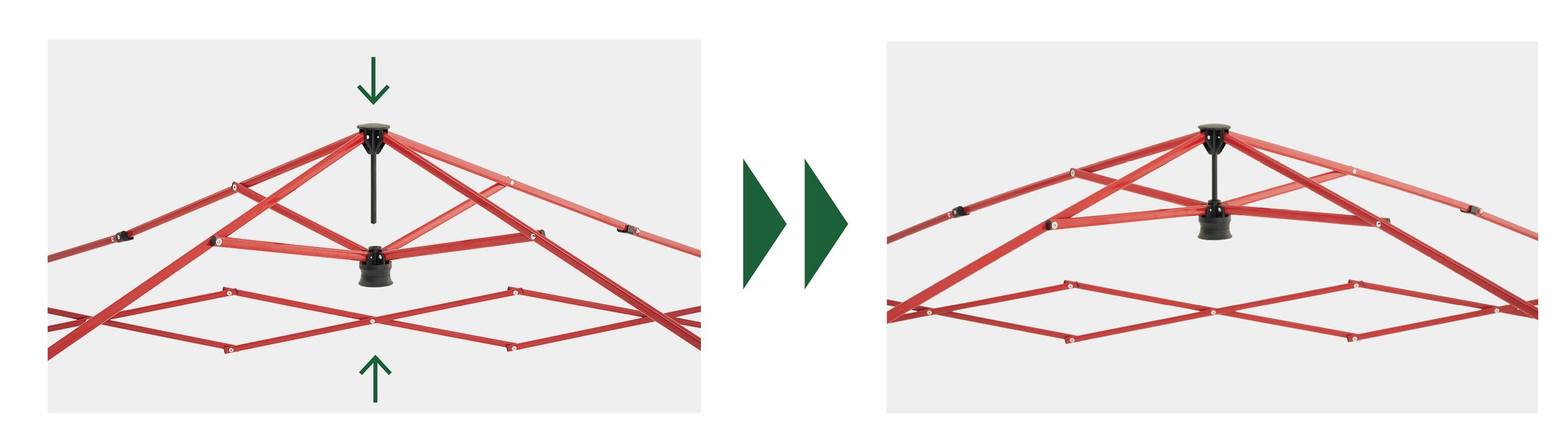 ワンアクションで簡単にセットできる、「Q-TOPシステム」を採用