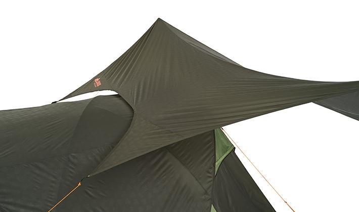 テントにフィットしやすいラウンドシェイプ