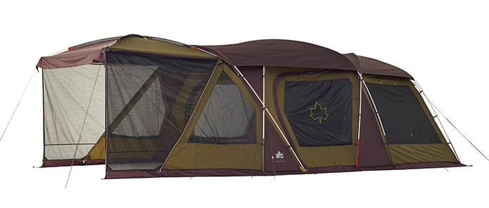 居住スペースをさらに拡張する3ルームテント