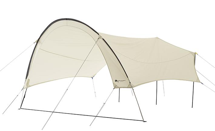 驚きの開放感テントや車とのリンクにも最適