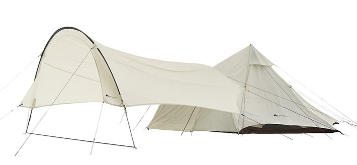 テントとぴったり連結可能