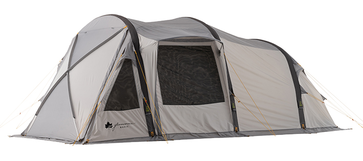 設営たったの約7分!空気で立ち上がる次世代テント