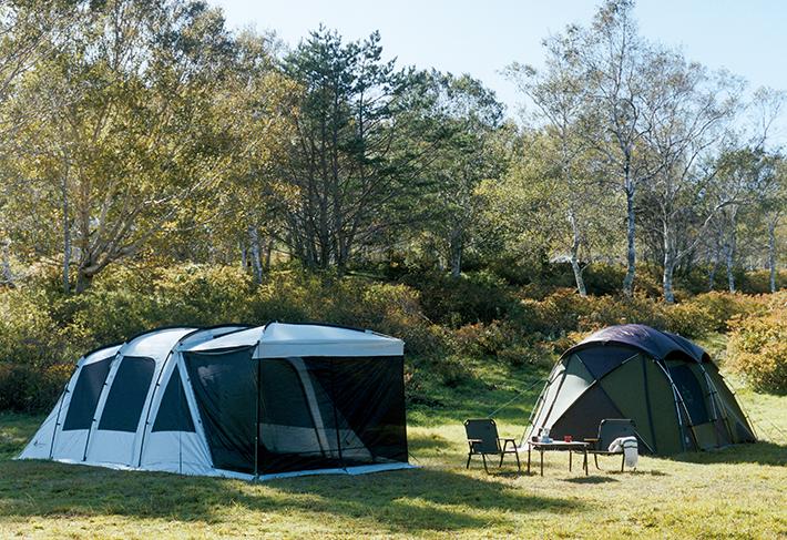 グランベーシックシリーズの人気テントが機能性もスペックもさらにレベルアップ