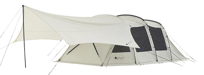 同シリーズのテントと連結可能