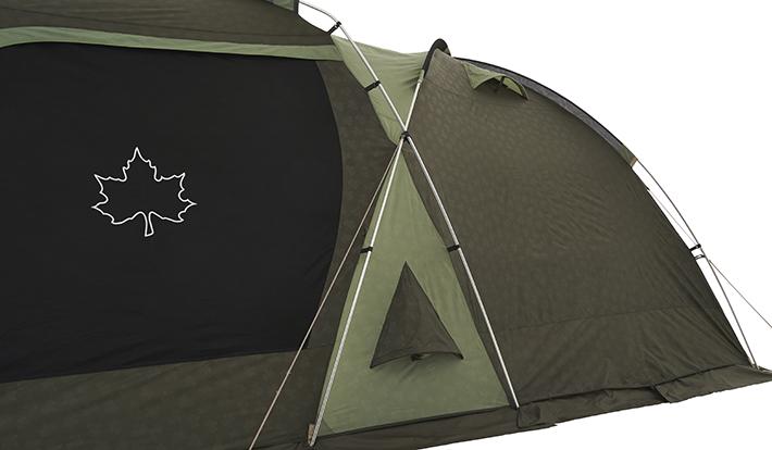 テント上下に設けられたベンチレーションにより通気性アップ。