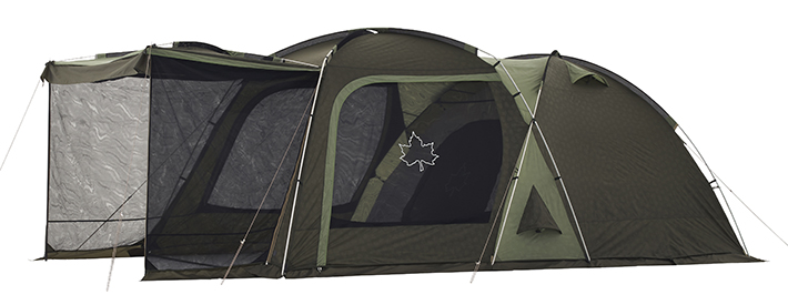居住スペースを拡張する3ルームテント