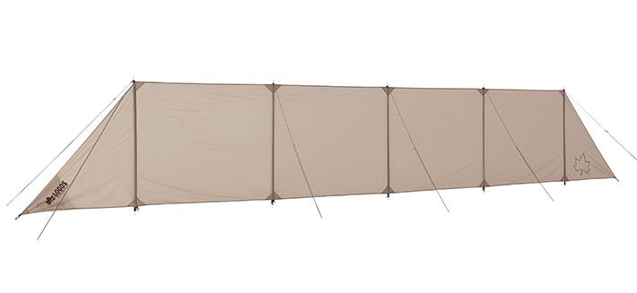 風からタープを囲んで守る!難燃性生地で安心・安全な陣幕。