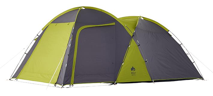 大型スクリーンタープとしても使える!寝室+リビングの広々2ルームテント。