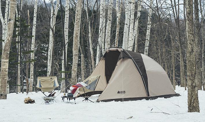 ハイポジションタイプでより広く!大型前室付きのコンパクトな2人用テント。