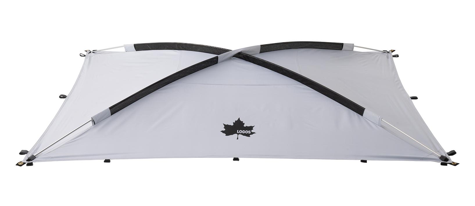 テントの強度をアップさせる「筋交い構造」