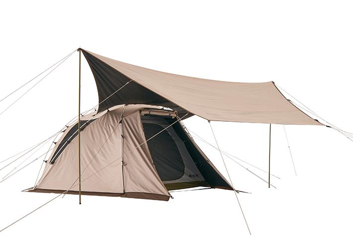 テントにフィットするラウンドシェイプ