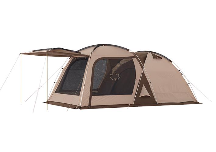 デビルブロック採用! 機能性に優れた広々パネル2ルームテント