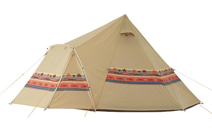 風に強くて組立て簡単! 贅沢なリビング付きワンポールテント。