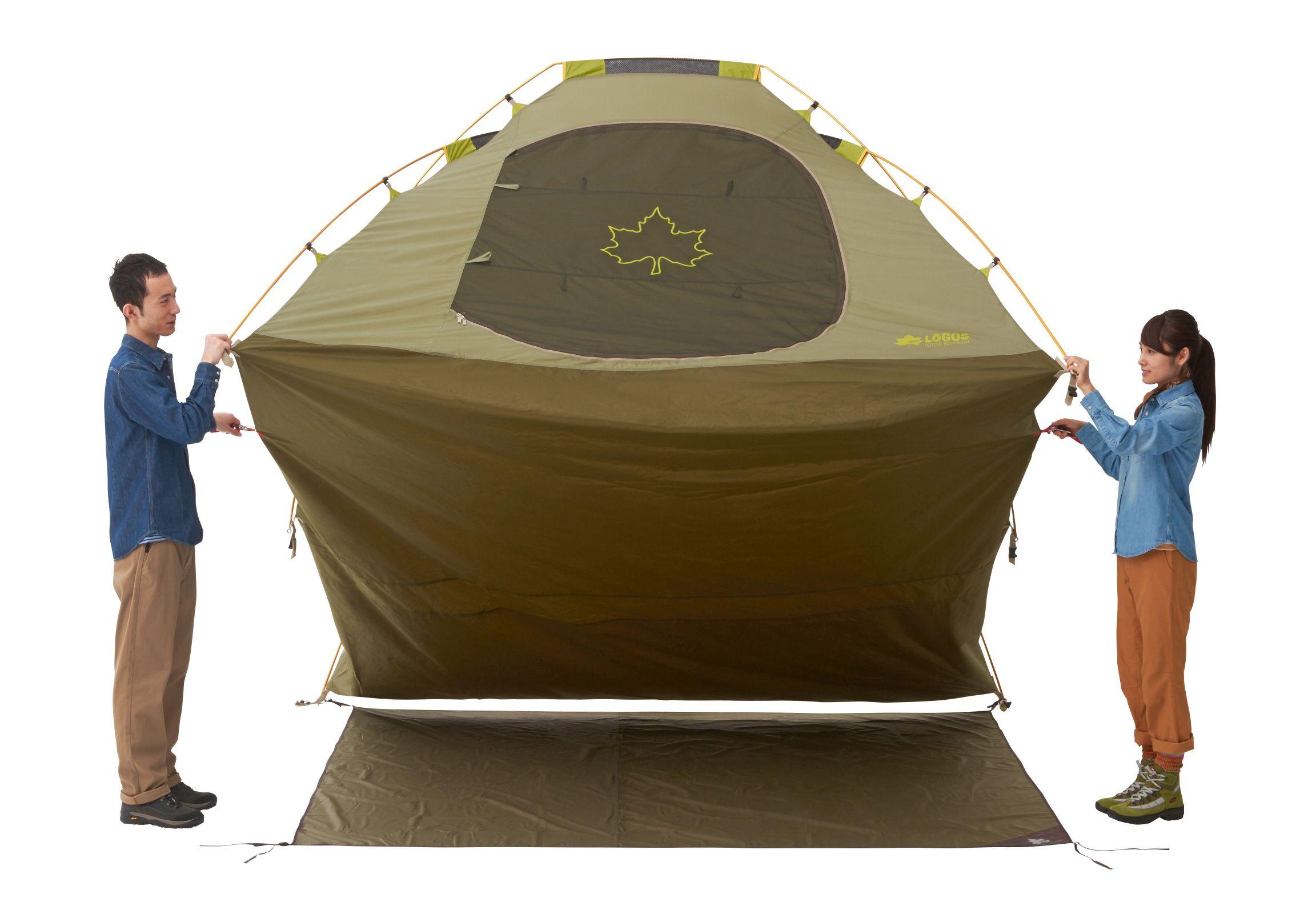 テントにぴったりサイズで、快適に。