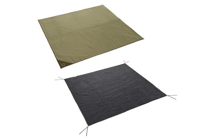 XLサイズテント用 インナーマットとグランドシートの、 快適2点セット。