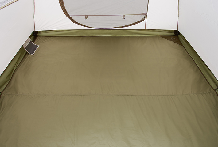 テントにぴったり収まるサイズ