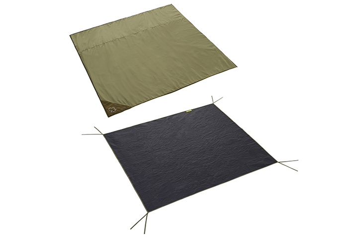 Mサイズテント用インナーマットとグランドシートの、快適2点セット。