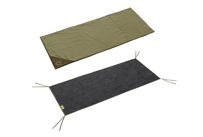 SOLOサイズテント用インナーマットとグランドシートの、快適2点セット。
