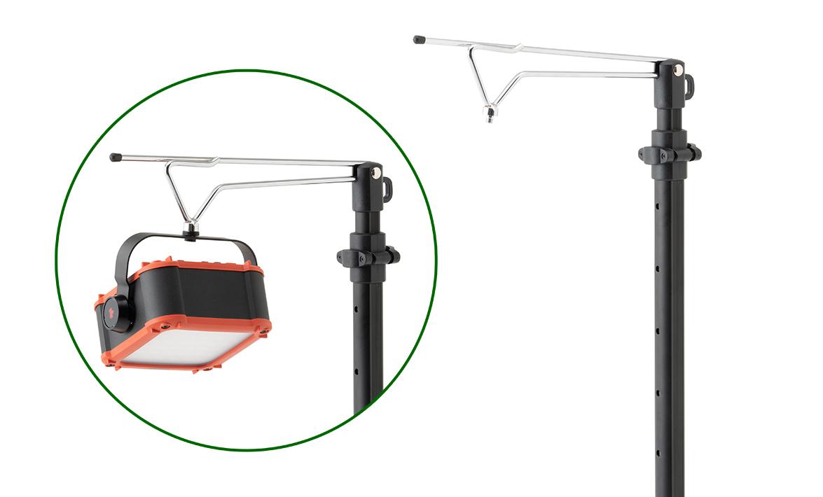 パワーストックランタンシリーズを固定できる専用ネジを装備