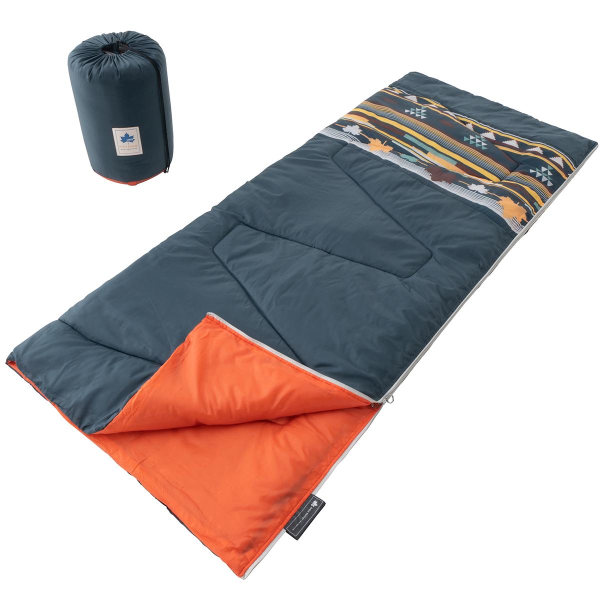 丸洗い寝袋 リバーシブル・5(ダークグリーンナバホ)