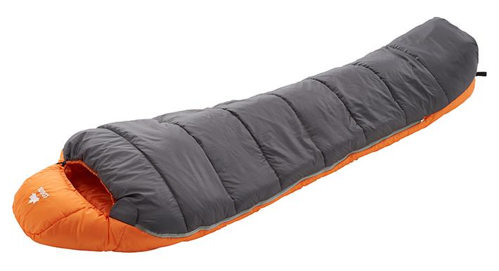 [適正温度-2℃まで]暖かさを追求したマミー型寝袋