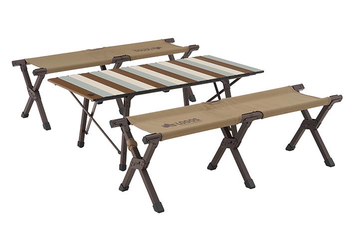コンパクト収納&簡単組立て! 家族で使えるテーブルセット。