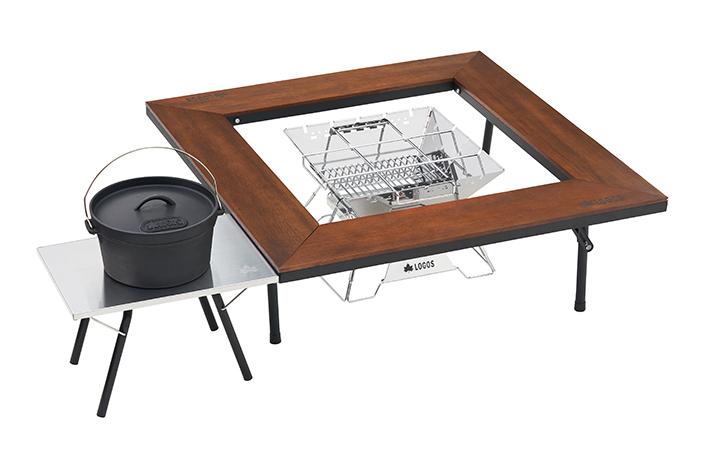 LOGOS囲炉裏テーブルシリーズと 同じ高さなので並列して使えます