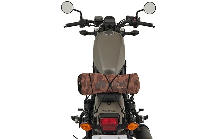 収納幅45cmで、バイクの荷台にもぴったりなサイズ
