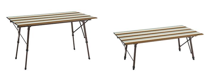 テーブルは高さ2段階調節OK