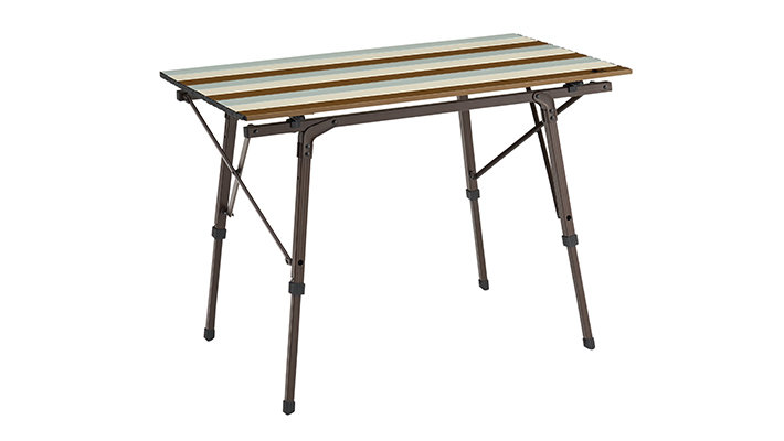 フレームをひろげるだけの簡単組立て!ひろびろ使えるテーブル。