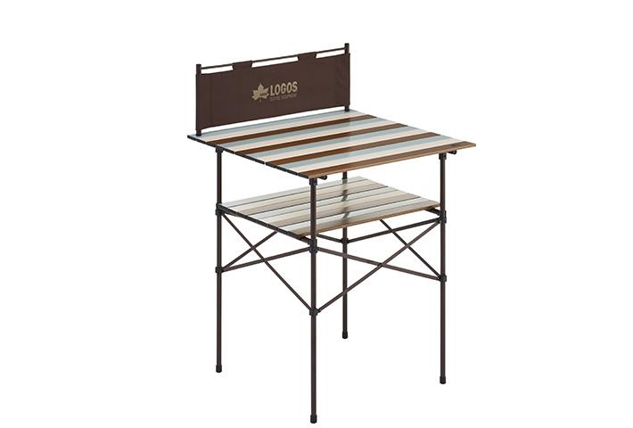 腰がラクな高さ86cm!調理に最適な風防付きハイテーブル。