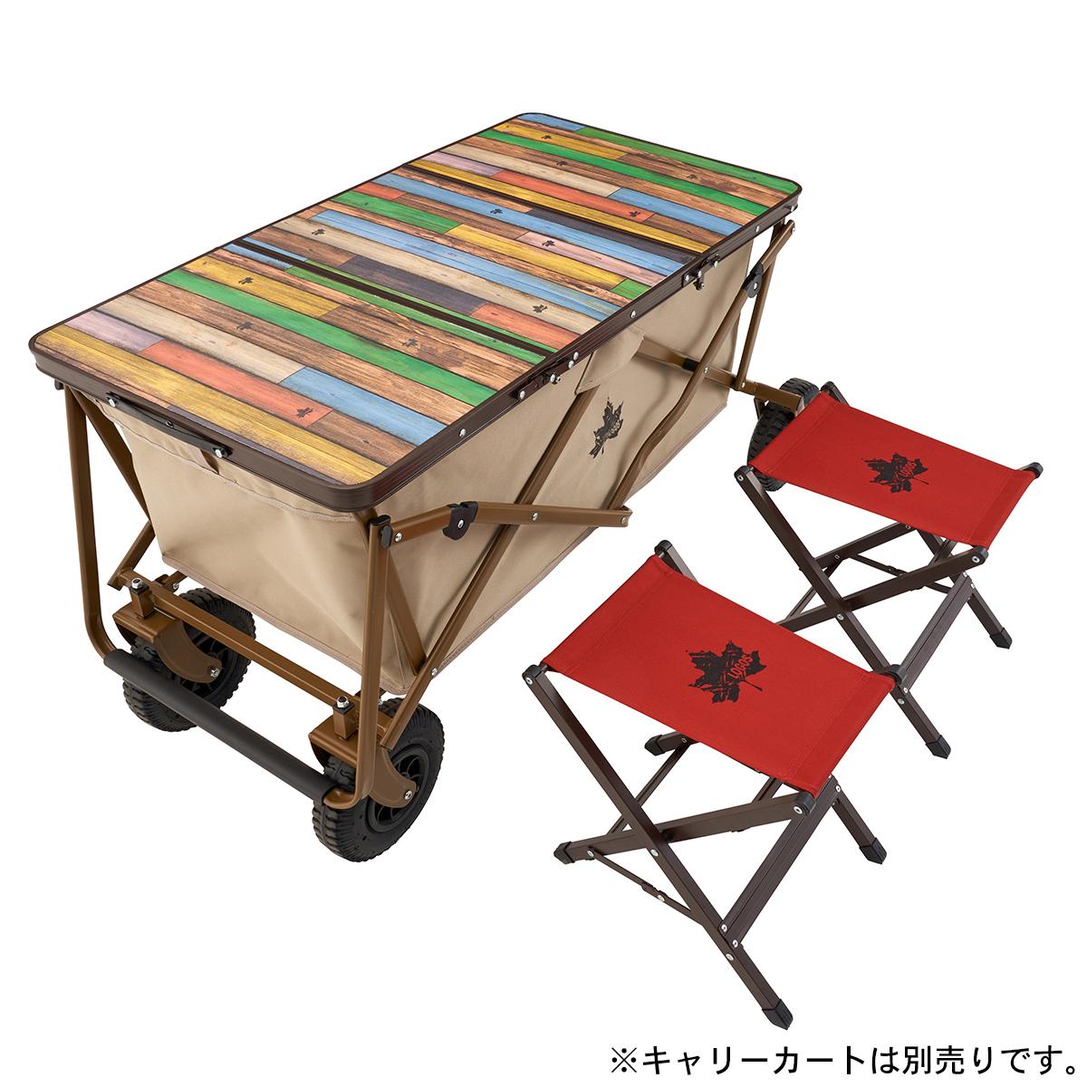 Old Wooden 丸洗いカートテーブルセット2