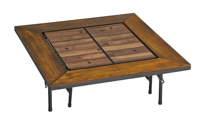 囲炉裏テーブル中央の開口部に設置すれば、囲炉裏テーブルが大型ローテーブルに!