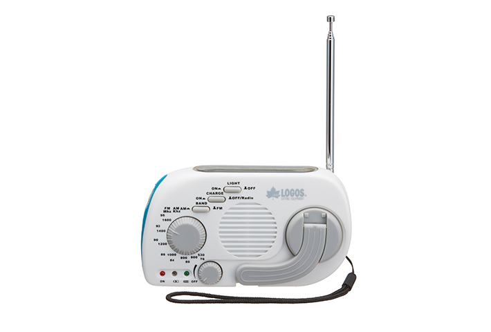緊急時の必需品! ライト、ラジオ(AM・FM)、スマホ充電機能がこの1台に!