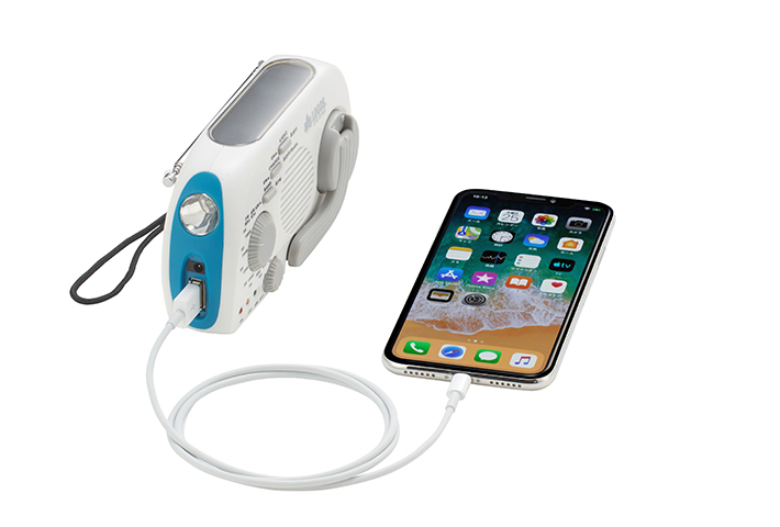 パワーバンク機能装備! スマートフォンに充電可能