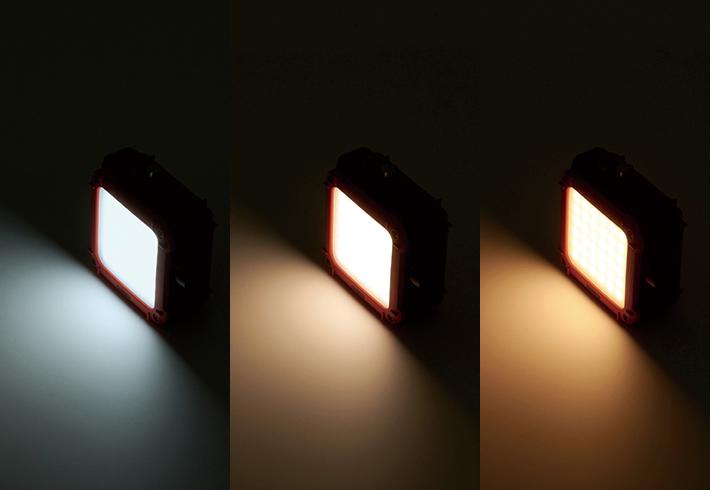 3色点灯モード& 10段階の明るさ調節