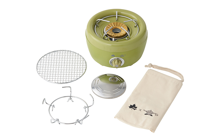 料理の幅が広がる「グリルキット」と持ち運びに便利な「収納袋」付き