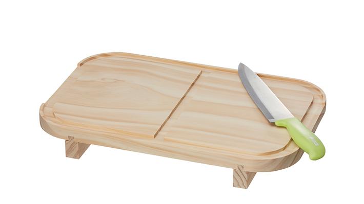 まな板にもなる木蓋付き