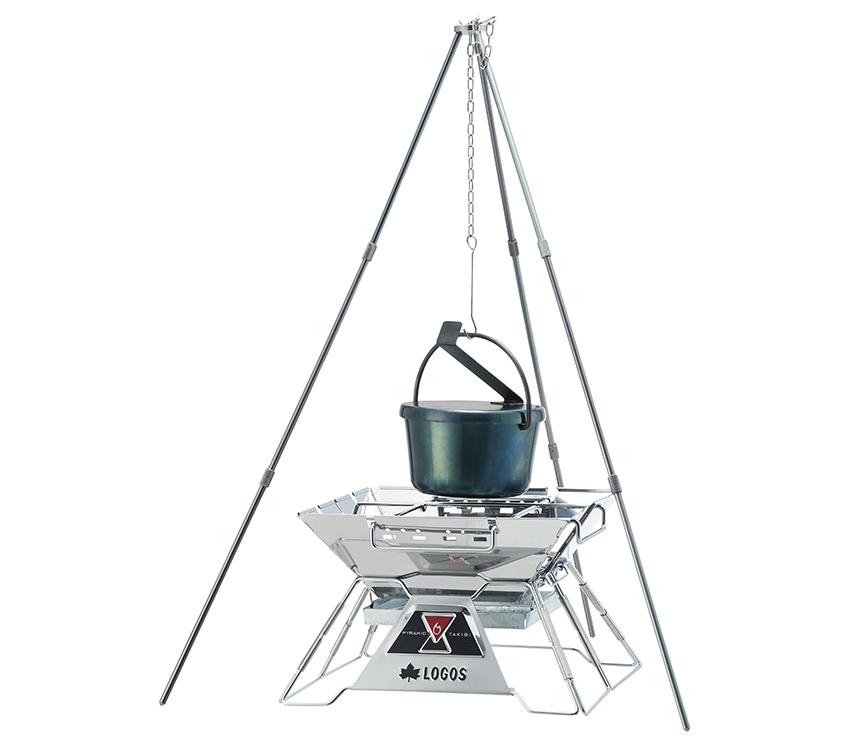 吊り鍋調理も可能