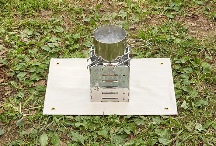 表面は耐熱温度の高い耐火シート