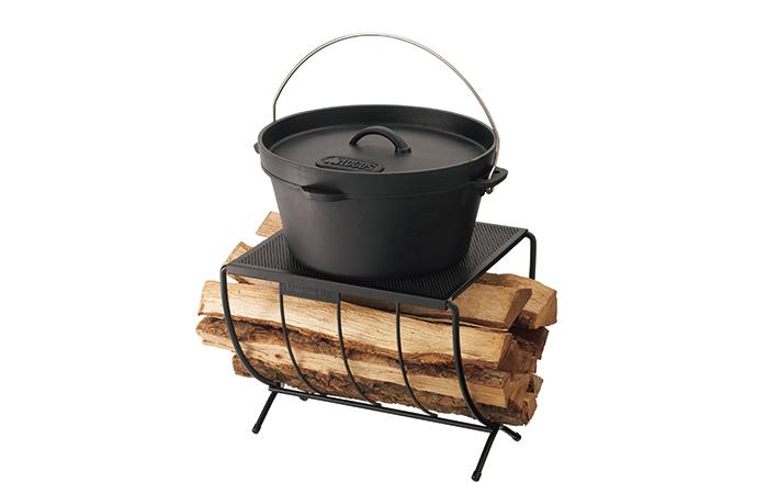 耐熱仕様の天板はダッチオーブン直置きOK