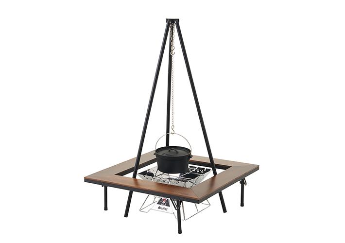 吊り鍋料理も楽しめる