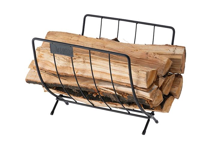 薪束ごと置けて地面からの湿気を防ぐ!