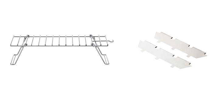 ピラミッドTAKIBIの使い勝手がさらにUP!折りたたみ式耐熱ラックと火床仕切り板のセット